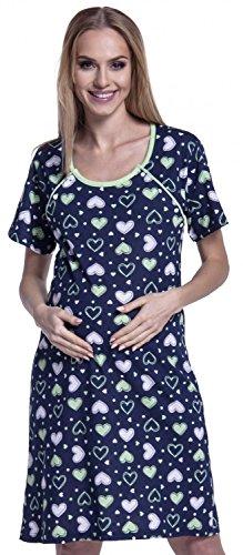 Happy Mama. Mujer Camisón / Pijama Premamá Corazones VENDEN POR SEPARADO. 568p Camisón - Manga corta