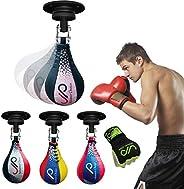 JP Rex Leather Speed Bag Boxing Ball, Swivel & Boxing Gel Gloves   MMA Muay Thai Training Punching Dodge S