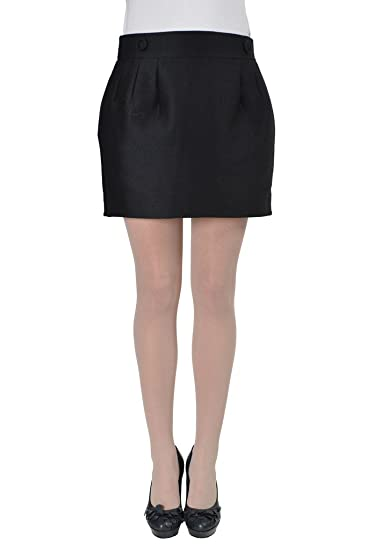 69bd86f55d Viktor & Rolf Women's Black Wool Silk Mini Skirt at Amazon Women's Clothing  store: