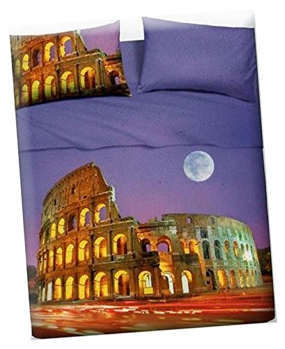 Copripiumino As Roma.Set Copripiumino Bassetti Mod Roma Letto 150 160 Cm 4piezas