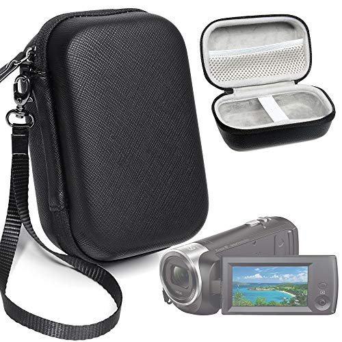 Camcorder Case for Sony HD Video Recording HDRCX440, HDRCX405 Handycam; Canon VIXIA HF R800, Panasonic HC-V180K and Kimire HD Recorder, Also fit for Sony HDRAZ1VR/W Action Camera -