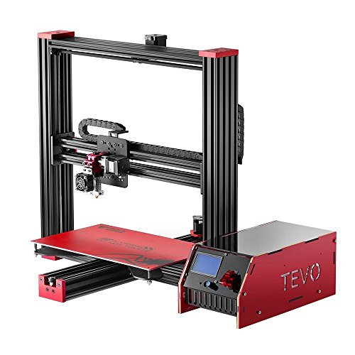 Tevo Black Widow I3 3D Printer DIY Kit Aluminum Frame Large Printing Size 370 250 300mm High Accuracy Adopt for BLTouch Auto Leveling Microstep Extruder MKS MOSFET Heating Controller, w/ Heatbed Printers TEVO