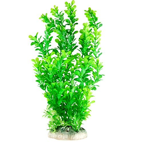 Pawliss Aquarium Decor Fish Tank Decoration Ornament Artificial Plastic Plant Green 13 (Plant Aquarium Ornament Decoration)