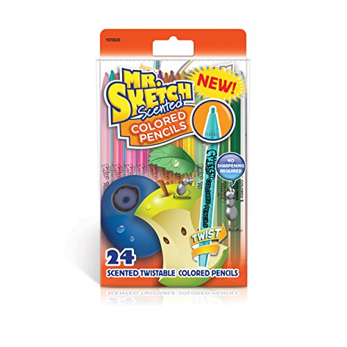 Mr. Sketch 1970620 Scented Twistable Colored Pencils, Assorted Colors, 24 Count (Best Nature Pencil Sketches In The World)
