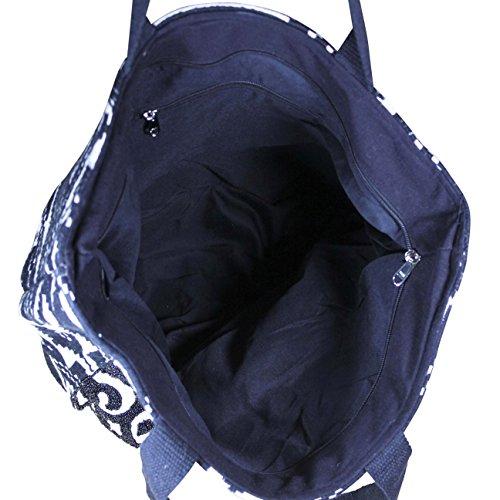 FERETI Borse a tracolla ricamo Tessuto Beige Nera di perline policromo bicolore