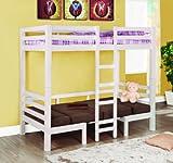 Coaster Fine Furniture 460273 Convertible Loft Bed, Twin, White Finish