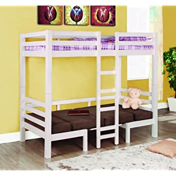twin loft bed with desk and dresser this item coaster fine furniture convertible white finish honey bunk over full ikea size