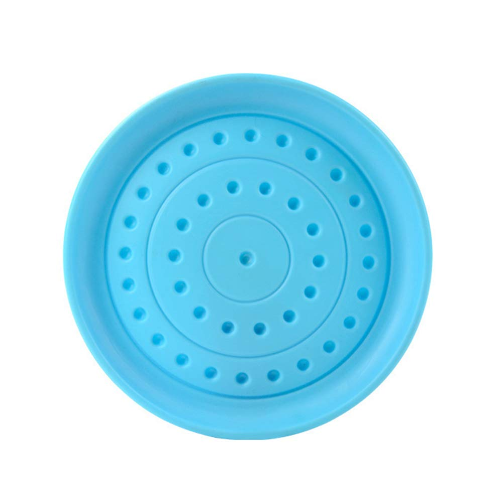 CqmzpdiC Outdoor Pet Dog Throw Flying Training Plastic Disc Play Fetch Toy Feeding Bowl Durable Easy to Use Portable Useful