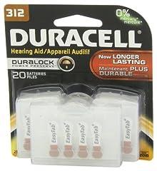 Duracell hearing aid batteries.