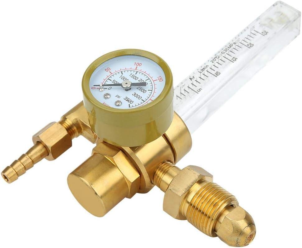 Gas Flow Regulator Welding Accessories Soldering Argon and Argon 0‑25L//Min G5//8 Brass Gas Regulator