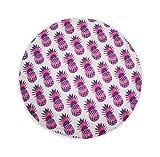 Alaska2You Round Mandala Tapestry Outdoor Beach Towel Picnic Blanket Bohemian Pineapple Wink Gal Hippie Towels Beach Yoga Mat Plum