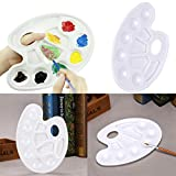 water based mixing medium - Putars Portable 7 Well Mixing Paint Draw Nail Art Watercolor Plastic Palette Tray for Students Gift