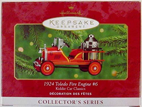Hallmark Keepsake Ornament Kiddie Car Classics 1924 Toledo Fire Engine 6th in Series - Fire Ornament Engine