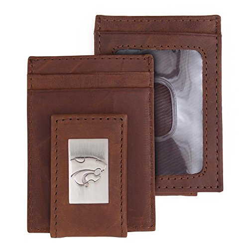 Eagles Wings Kansas State University Wallet Front Pocket Leather Wallet - Kansas State University Leather