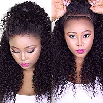 Mike   Mary Glueless 7A Full Lace Human Hair Wigs Natural Color Brazilian  Human Virgin Hair f77544740d8d