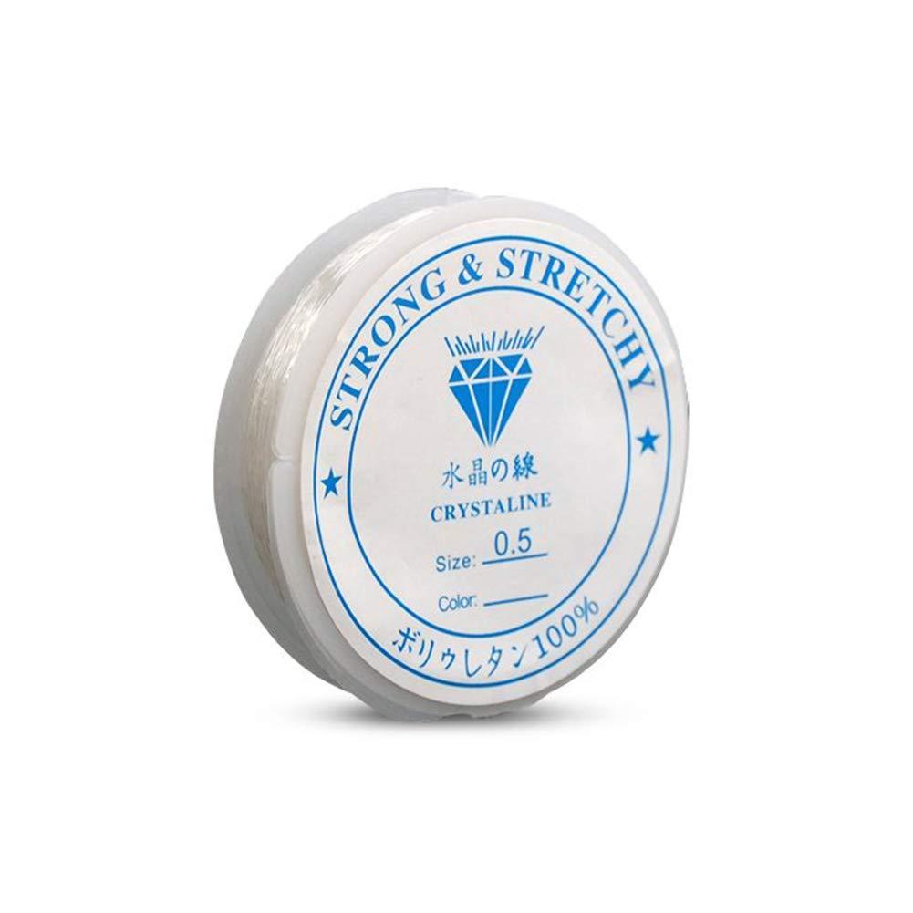 NiceButy 1 Rouleau Cristal Ligne Claire Fort Fil Perles Cordon de Fil pour la Fabrication de Cordes Bijoux Bracelets Colliers Faire 0.5mm 20 m/ètres Durable et Pratique