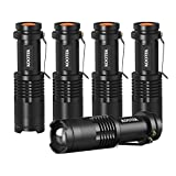 Kootek 5 Pack Mini LED Flashlight Ultra Bright 300 Lumens Handheld Flashlights Adjustable Focus Small for Kids Child Camping Cycling Hiking Emergency Torch Light