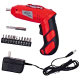 Apollo Precision Tools DT1036, Cordless Rechargeable Screwdriver, 4.8V, Red