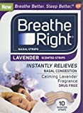 Breathe Right Strips Nasal Strips, Lavender, 10 Count by Breathe Right