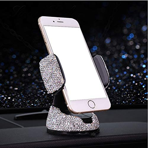 Bestbling Luxury Rhinestone Bling Universal Car Stand Phone Holder Air Vent Car Mount Stand Holder Compatible with iPhone X 8 Plus 7 Plus SE 6s 6 Plus 6 5s 5 4s 4 Silver