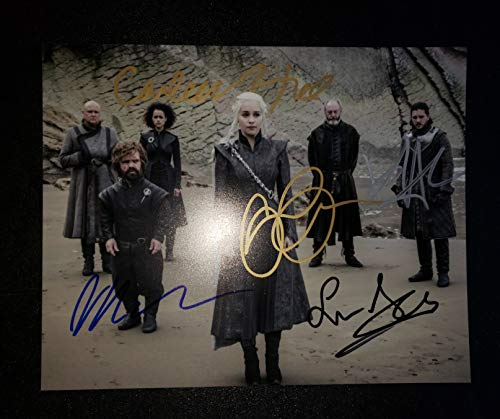 GAME OF THRONES CAST 5x - Autographed Signed 8x10 inch Photograph - Emilia Clarke Kit Harington Peter Dinklage