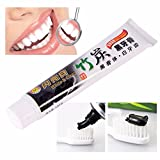 Best Toothpaste For Bad Breaths - Pawaca Bamboo Charcoal Toothpaste,Black Teeth Whitening Toothpaste-Remove Bad Review