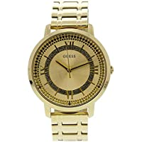 Guess Montauk Gold Dial Stainless Steel Ladies Watch W0933L2