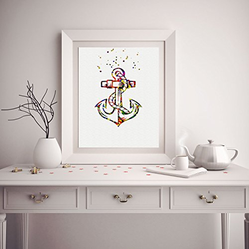 Illustrated-by-Poster-Soul-Watercolor-Anchor-Poster-Nautical-Art-Prints-Gift-Wall-Decor-Artworks-Wall-Art-Home-Decor-Wall-Hanging