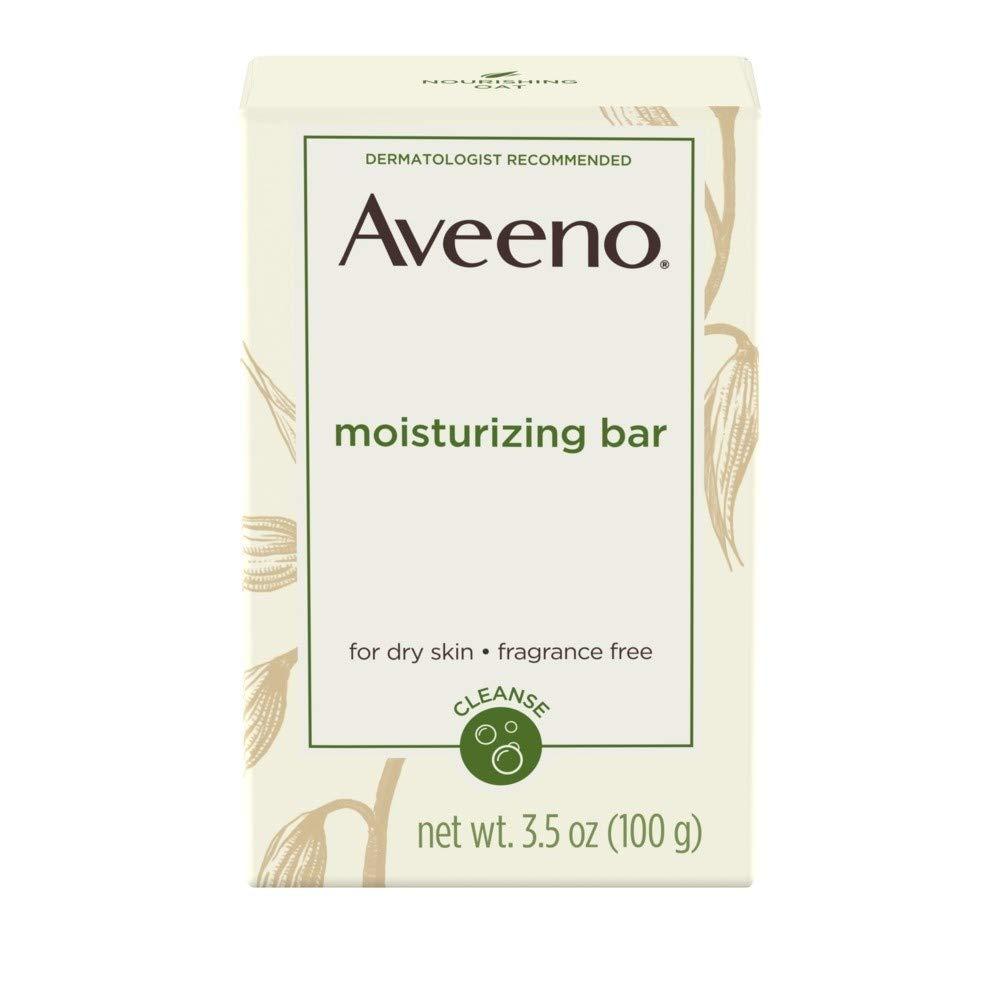 AVEENO Naturals Moisturizing Bar for Dry Skin 3.50 oz (Pack of 5)