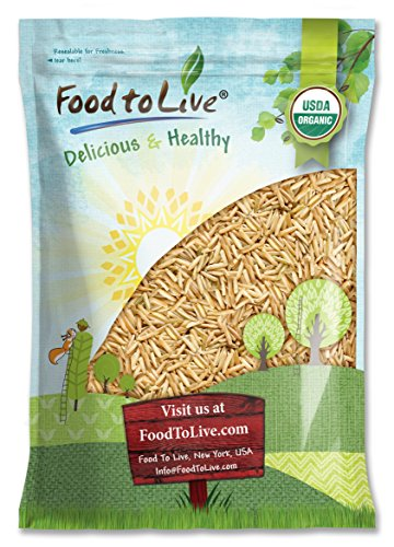Organic Brown Basmati Rice Food to Live (Raw, Long Grain, Non-GMO, Kosher, Bulk) — 5 Pounds