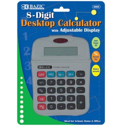 BAZIC 8-Digit Calculator w/ Adjustable Display Case Pack 72 by DDI