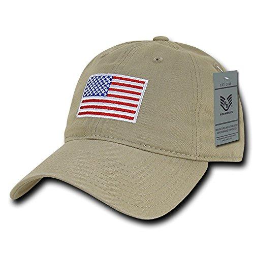 RapDom Polo Style American Pride Flag Baseball Caps - Original Khaki for $<!--$14.79-->