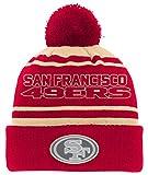 NFL Youth Boys Reflective Cuff Knit Pom Hat-Crimson-1 Size, San Francisco 49ers
