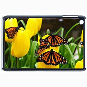 Customized Back Cover Case For iPad Mini 2 Hardshell Case, Black Back Cover Design Butterfly Personalized Unique Case For iPad Mini 2
