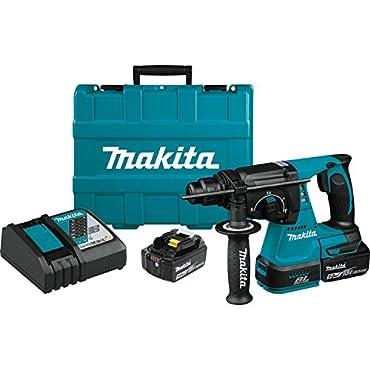 Makita XRH01T 18V LXT Lithium-Ion Brushless Cordless 1 Rotary Hammer Kit (5.0Ah)