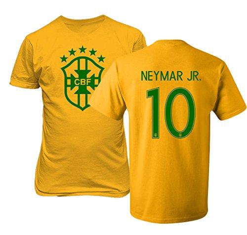 Tcamp Brazil 2018 National Soccer #10 NEYMAR JR. World Championship Mens T-Shirt