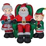 Airblown Inflatable-North Pole Santa and Friends Scene-LG by Gemmy Industries