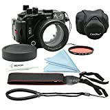 CamDive 40m/130ft Underwater Diving Camera Housing for Canon G7X Mark II Comes with CamDive Red Diving Filter & Neoprene housing cover