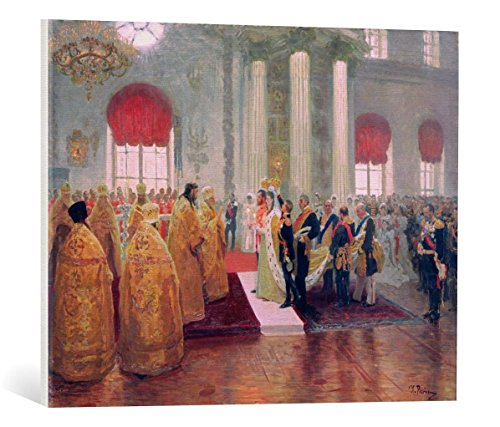 kunst für alle Canvas Print: Ilya Efimovich Repin Marriage Nicholas II Grand Duchess Alexandra Feodorovna... Fine Art Print, Canvas on Stretcher, Ready to Hang Wall Picture, 27.6x21.7 inch / 70x55 cm