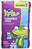 Kandoo Kids Flushable Wipes Refill, Potty Training Cleansing Cloths, Sensitive, 250 Count