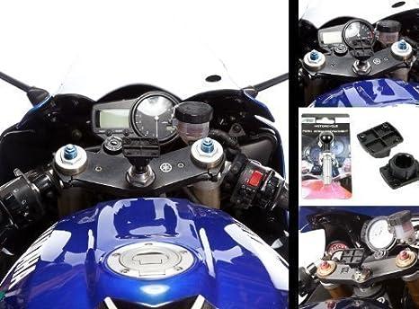 In Der Mitte Gabel Vorbau 13 15mm Motorrad Halterung Befestigung Mit Verstärker 4 Lochung Netzteil Teller Elektronik