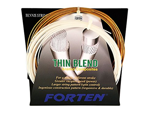 FORTEN Sports Thin Blend Forten Thin Blend – Hybrid String, Gold/White