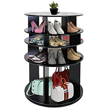 Jerry U0026 Maggie   Rotated Shoe Rack Shelf Table Shoe Organizer MDF Wood Like  Shelf Free Standing Flat Shoe Racks Modern Fashion Design Style   4 Tier  Multi ...