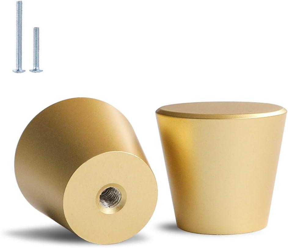 goldenwarm 10 Pack/Gold Knobs for Dresser, Brushed Brass Cabinet Knobs, Gold Drawer Knobs Brushed Gold Knob Hardware