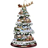 Hawthorne Village Thomas Kinkade Wonderland Express Animated Tabletop Christmas Tree With Train