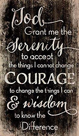 Amazon Com Diuangfoong Serenity Prayer Black And White Distressed 6 X 12 Wood Pallet Wall Art Sign Home Kitchen