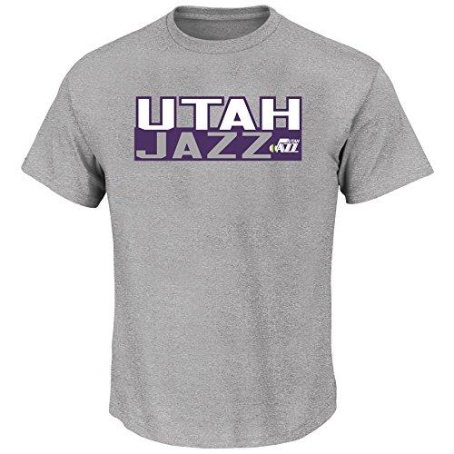(Karl Malone Utah Jazz #32 NBA Men's Vertical Name & Number T-Shirt (3XL))