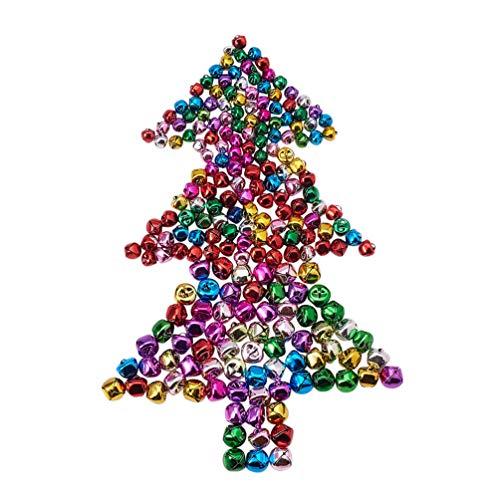 ENCOCO Multi Color Christmas Bells Iron Loose Metal Beads Jingle Bells,Christmas Decoration Pendants DIY Crafts Handmade Accessories,240 pcs