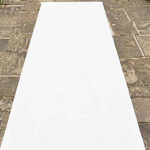 Blanc Tapis pour mariage. avec film de protection Buonomo Colori Tapis pour mariage