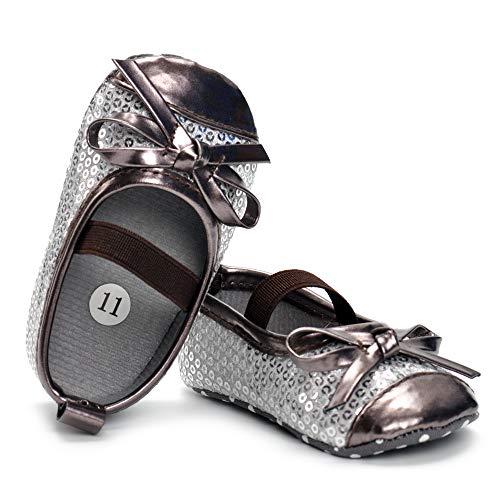 (Csfry Toddler Girl's Sneaker Anti-Slip First Walkers Brown)